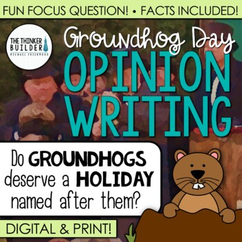 Groundhog Day Writing: Opinion Writing Lesson & Activity