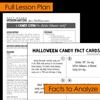 Fact-Based Opinion Writing for Halloween {Question #2}