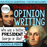 Presidents' Day Writing: Opinion Writing Lesson & Activity