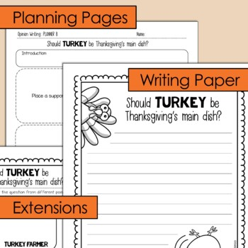 Thanksgiving Opinion Writing Lesson & Activity {Question #1}