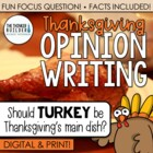 Fact-Based Opinion Writing for Thanksgiving {Question #1}