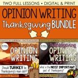 Thanksgiving Writing (Digital & Print): Opinion Writing -