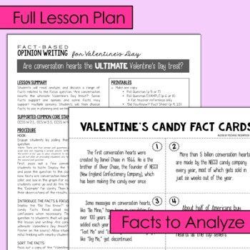Fact-Based Opinion Writing for Valentine's Day