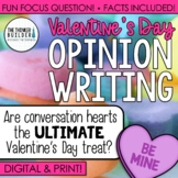 Valentine's Day Writing: Opinion Writing Lesson & Activity