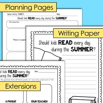 End of the Year Writing: Opinion Writing Lesson & Activity (Digital & Print)