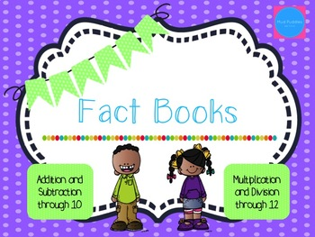 Fact Books Bundle: Addition, Subtraction, Multiplication, and Division