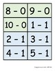 Fact Cards for Grade 1: Addition & Subtraction within 10 - LARGE FONT