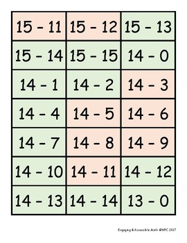 Fact Cards for Grade 2: Addition & Subtraction within 20