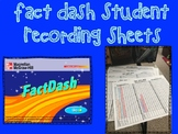 Fact Dash Multiplication, Division, Adding & Subtracting Student Recording Sheet