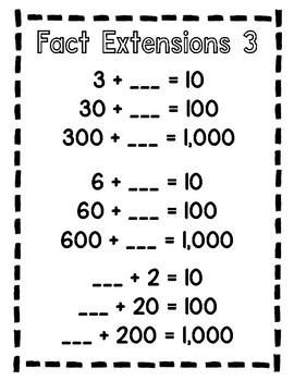 Fact Extension Practice