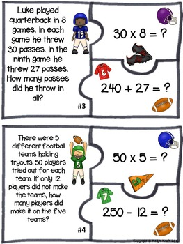 Fact Extension Two-Step Word Problems