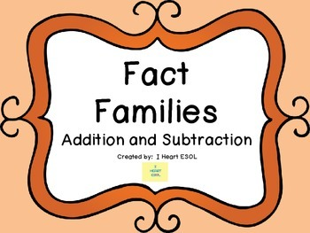 Fact Families {Triangles for Addition and Subtraction}