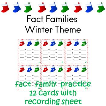 Fact Familes Winter Theme