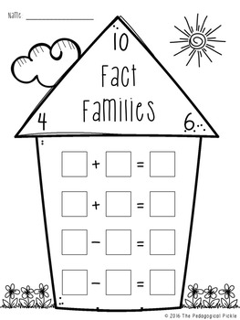 Fact Families 1-10 Printables