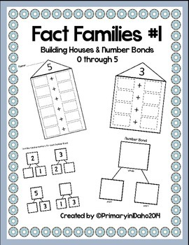 Fact Families #1 Building Houses & Number Bonds
