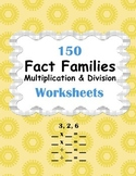 Fact Families - Multiplication and Division Worksheets