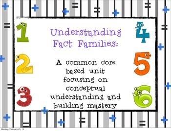 Understanding Fact Families
