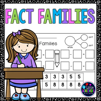 Addition and Subtraction Worksheets - Fact Families