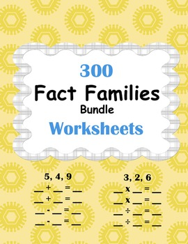 Fact Families Worksheets Bundle