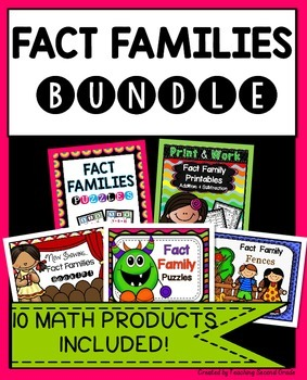 Fact Families Worksheets | Fact Family Games | Bundle