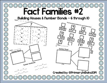 Fact Families #2 Building Houses & Number Bonds