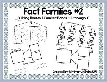 Fact Families #2 Building Houses & Number Bonds