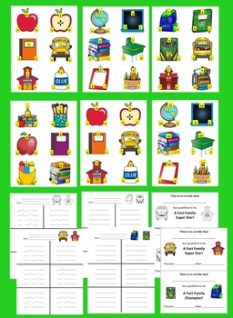 Fact Families For Addition and Subtraction - School Theme