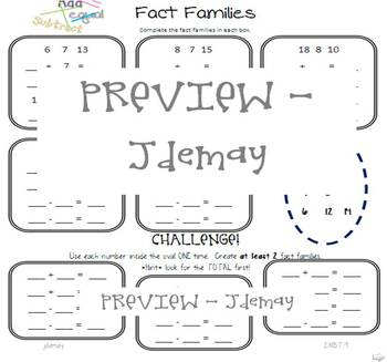 Fact Families - 2.NBT.9 relating addition and subtraction