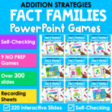 Fact Families Addition Facts PowerPoint Games | Unicorn Th
