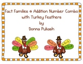 Fact Families & Addition Number Combinations with turkey f