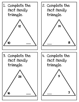 Fact Families Addition/Subtraction