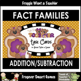 "Fact Families--Addition/Subtraction ""We Go Together"" Task Cards"