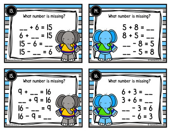 Fact Families Task Cards {Addition and Subtraction}