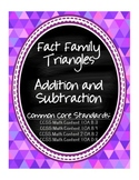 Fact Families ~ Addition and Subtraction ~ Flashcard & Activity Common Core