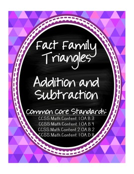 Fact Families ~ Addition and Subtraction ~ Flashcard & Act