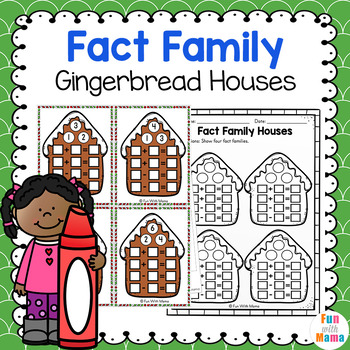 Fact Families - Addition and Subtraction Gingerbread themed