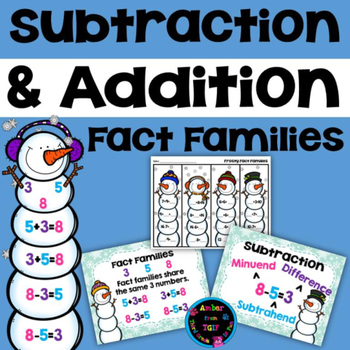 Addition and Subtraction Fact Families Snowmen