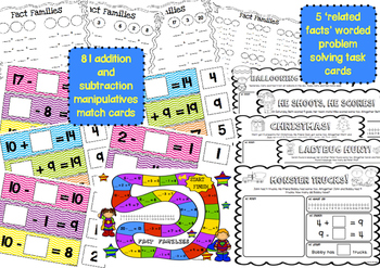 Fact Families BUNDLE - Addition and Subtraction to 20 ~ Miss Mac Attack ~