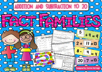 Fact Families BUNDLE - Addition and Subtraction to 20 ~ Mi