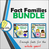 Fact Families BUNDLE. All Four Operations! Great for centers