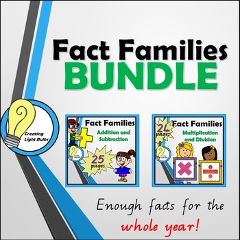 Fact Families BUNDLE. All Four Operations!