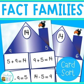 Number Fact Families Card Sort