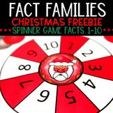 Fact Families Christmas Game Freebie