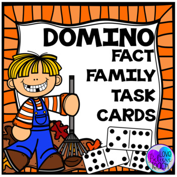 Fact Families - Fall Themed Domino Task Cards