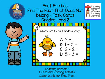 Fact Families Find the Fact That Does NOT Belong  Baby Chicks  Grades 1 - 2