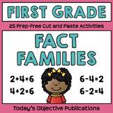Fact Families (First Grade Cut and Paste Practice)