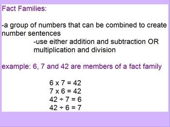 Fact Families Flipchart