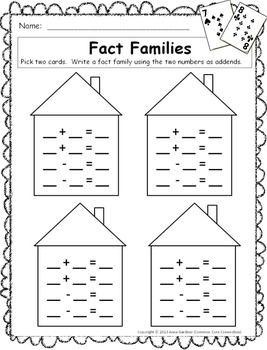 Fact Families - Free and Simple Card Game
