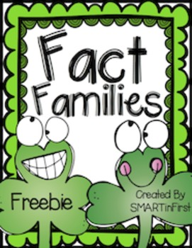 Fact Families Freebie