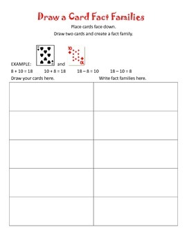 Fact Families Games for Centers, DIY's, and Daily 5